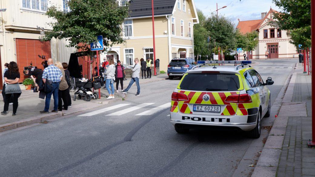 Filminnspilling ved Evensens Bakeri og Conditori